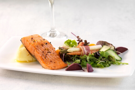 corporate catering salmon